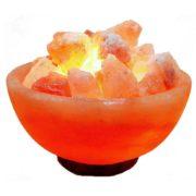 Солевая лампа Ваза с камнями