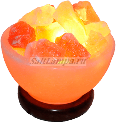 Солевая лампа ваза с камнями 4-6кг